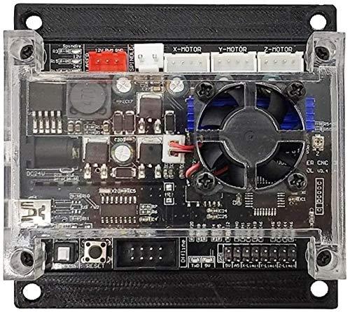 Tarjeta de control GRBL 1.1 actualizada con ventilador de refrigeración conexión USB controlador fuera de línea para 1610/2418/3018 DIY 3 ejes máquina de grabado CNC