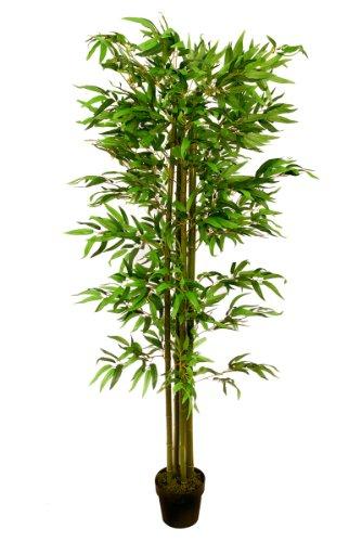 Bambusbaum 1,80 m 4 Stämme Kunstbambus Kunstbaum Bambus künstlich