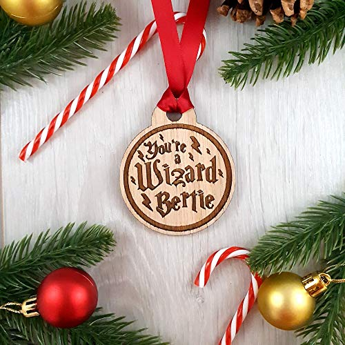 Personalised Harry Potter Christmas Tree Decoration Bauble