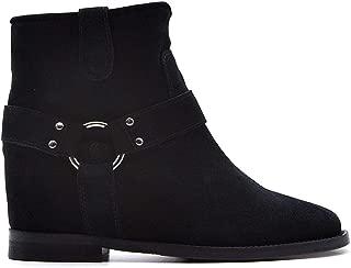 VIA ROMA 15 Luxury Fashion Womens 3255086VELOURNERO Black Ankle Boots  