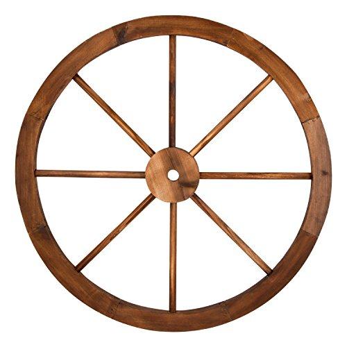 Shine Company Inc. 4952BT Decorative Wagon Wheel Trellis, Burnt Brown