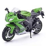 XHAEJ Compatible con Kawasaki ZX-10R Motocicleta Motorbike Kit de plástico Modelo 1/12 Vehículos de aleación de aleación de Juguetes Regalo de Juguete Cumpleaños de niño Presente