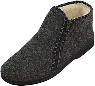 BAWAL Feutre Chaussures d'hiver pour Hommes Zippé Chaussures à Haute Température Isolées avec Laine