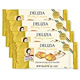 DELIZIA PASTRY CREAM Our cream filled Patisserie Rolls are classic Italian pastry puffs with a buttery, creamy core. As butter does not respond well to light, the pastry is protected by a special metallic wrapper. Kosher, Dairy. PUFF PASTRIES With th...