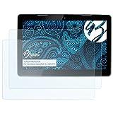 Bruni Schutzfolie kompatibel mit HannSpree HannsPad 13.3 SN14T71 Folie, glasklare Bildschirmschutzfolie (2X)