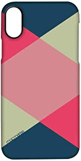 Macmerise IPCIPXPMI0438 Criss Cross Tealpink - Pro Case for iPhone X - Multicolor (Pack of1)