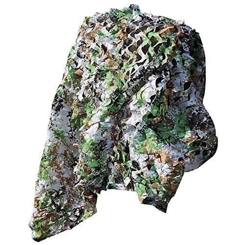 Cfbcc Sunblock Shade Cloth Outdoor Air Defense Camouflage Net, Greening Decoration Jungle Camouflage Net Patio Roof Car Insulation Shading Net Sunshade net (Size : 3m x 4m)