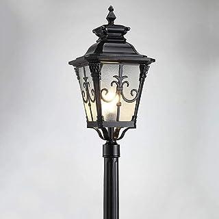 AXWT Réverbère for Le Jardin, en Plein air antipluie Anti-Rouille pelouse Lanterne européenne Villa Park High Pole éclaira...