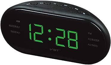 Alarmclocker8B AsyPets Radio Am/FMLED Radio Despertador electrónico de Escritorio Reloj Digital Reloj función de repetición-25-Green_France