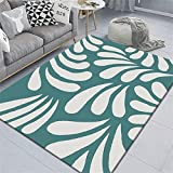 alfombras Salon Alfombra Azul, cojín Simple para Silla de Oficina, Alfombra Moderna fácil de aspirar Alfombra Gateo Bebe -Azul_El 120x160cm