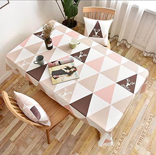 XXDD Mantel geométrico Rectangular Decorativo Cocina Mesa de Comedor Cubierta Impermeable hogar Escritorio paño A3 140x200cm