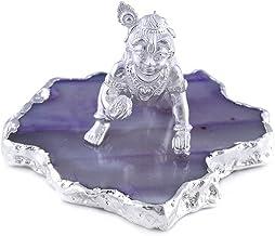 Silver (Chandi) White Laddu Gopal Idol Ji/Pure Silver Idol for Home Gift,Office Decorative Showpiece
