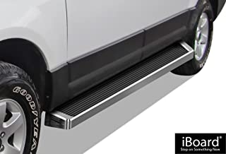 APS iBoard (Silver Running Board) Running Boards Nerf Bars Side Steps Step Rails Compatible with 1997-2017 Ford Expedition Sport Utility 4-Door (Exclude EL Model) (Not Fit Funkmaster Flex Edition)