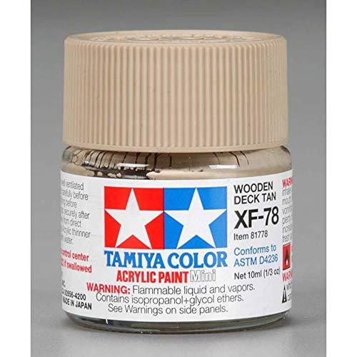 Tinta Acrílica Mini XF-78 Madeira de deck (10 ml) - Tamiya 81778