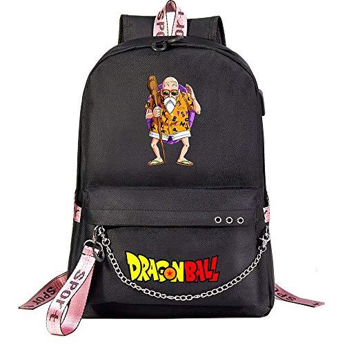 Mylxdn Dragon Ball Son Goku Anime Bolsa De Estudiante Hombres Y Mujeres Mochila Casual De Correasportátil Diseño De Anime Portátil Unisex Ligera Versátil para