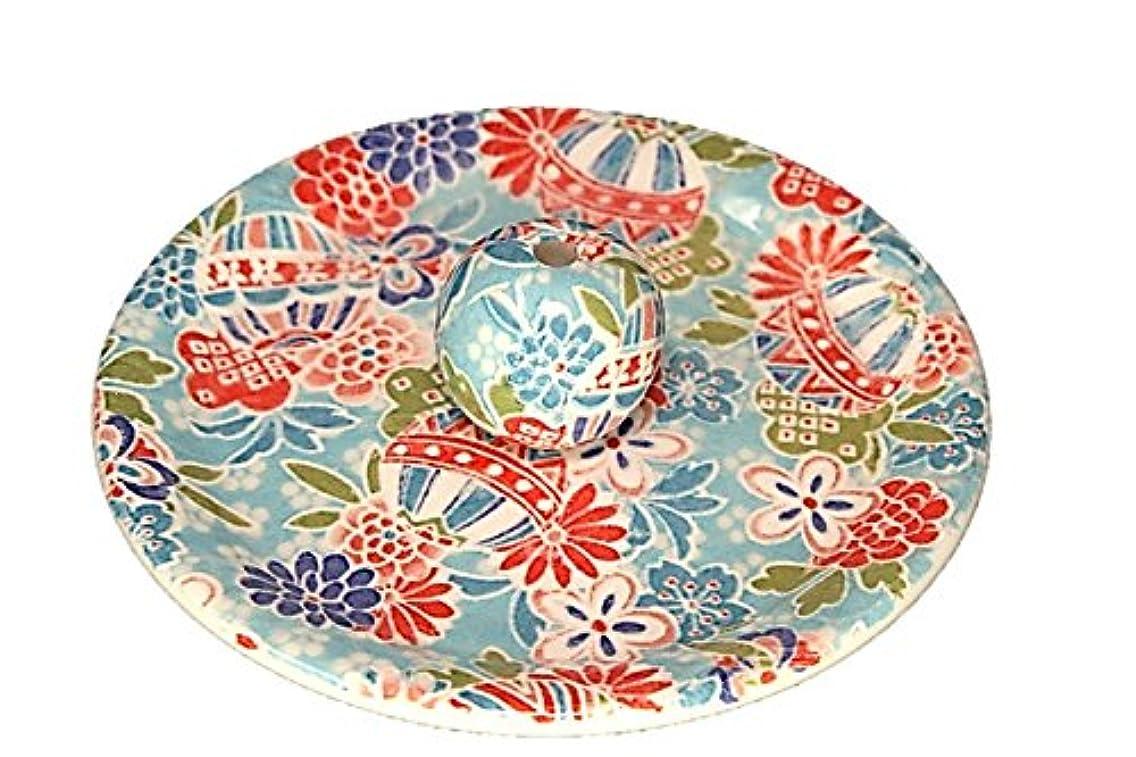 アジア突っ込む考古学的な9-52 京雅 青 お香立て 9cm香皿 お香たて 陶器 日本製 製造?直売品