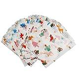 VANKOA 100 Stück bedrucktes Wachspapier zum Backen von Nougat Süßigkeiten-Geschenkpapier,...