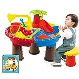 Juguetes de mesa de arena para niños, juego de mesa de arena y agua para niños y niñas, herramientas de arena para...