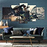 ZKSB Canvas Wall Art Video Game Borderlands 3 Wall Decoration Mural Restaurant Study Decoration Oil Painting 200X100Cm Frameless Painting
