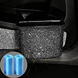 Car Trash Can with Bling Rhinestones,Portable Car Garbage Can with 2 Rolls Car Trash Bags ,Vehicle Mini Trash Dustbin Bin Bling Car Accessories for Car Office Kitchen Bedroom Home