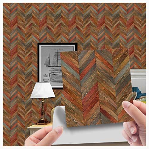 Lucidting Pegatinas De Piso De Baldosas De Grano De Madera De Imitación Decoración del Hogar 10 * 10 cm * 20 Piezas WDT009