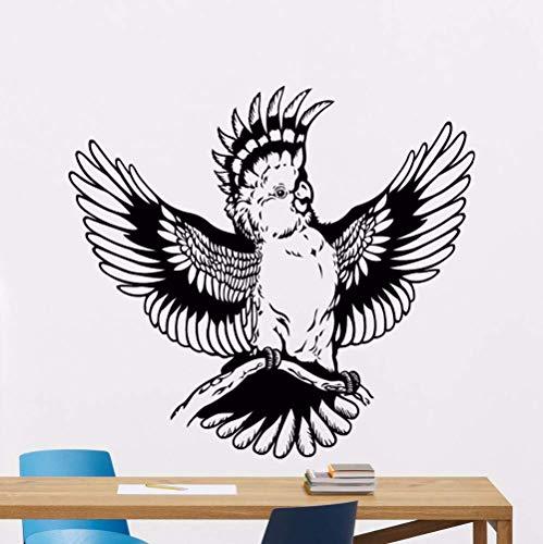 Papegaai Vogel Muursticker Vinyl Muursticker Verwijderbare Papegaai Vogel Dierlijke Muur Art Muurschildering Woonkamer Vinyl Muurstickers 42x39cm