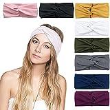 DRESHOW 8 Pack Women's Headbands Headwraps Hair Bands Bows Hair Accessories
