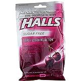 Halls Mentho-Lyptus Drops Sugar Free Black Cherry - 25 ct, Pack of 2