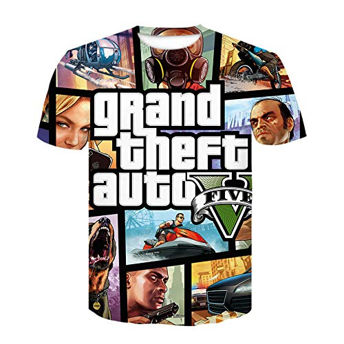 Grand Theft Auto 3D Spaß GTA 5 Hoodies Langarm Street Style Hooed Jacke Unisex Gta5 Spiel Sweatshirt Male-D-843_Kid3