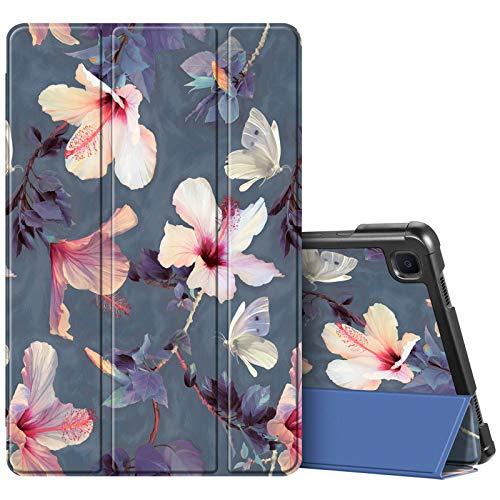 Fintie SlimShell Funda para Samsung Galaxy Tab A7 10.4' 2020 - Carcasa Fina y Ligera con Función de Soporte y Auto-Reposo/Activación para Modelo SM-T500/T505/T507, Hibisco