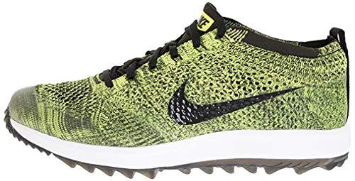 Nike Men's Flyknit Racer G Golf Shoes, Green Verde Black 700, 12 UK