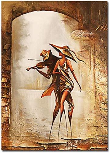 Lienzo De Impresión 50x70cm Sin Marco Carteles de hombres y mujeres bailando imprime el romántico amor maravilloso arte pinturas al óleo sala de estar dormitorio decoración