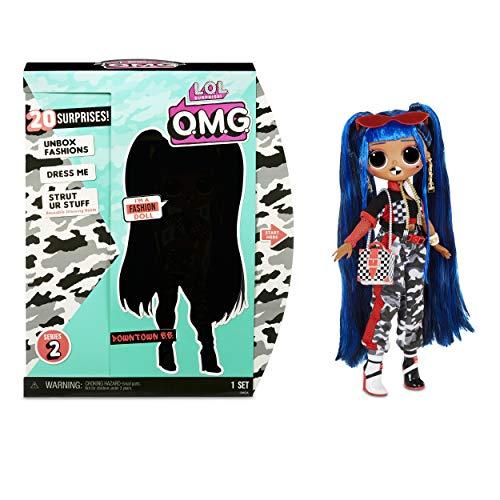 LOL Surprise OMG 38 Doll- Downtown BB, 25 cm große bewegliche Fashion Puppe mit 20 Überraschungen