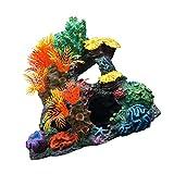 POPETPOP Ornamentos de Plantas de Coral Plantas Artificiales de Acuario para Peceras Simulación Subacuática Ornamento de Paisaje Decoración de Rocas (Colores Surtidos)