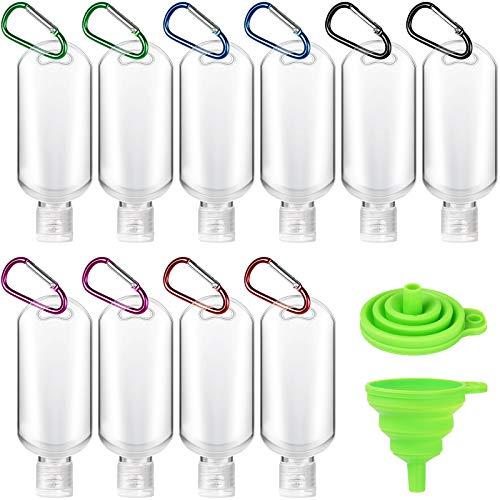 Mokani 10pcs 50ml Refillable Travel Bottles, Portable Hand...