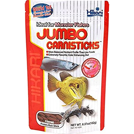 Hikari Jumbo Carnistick-Long Pellet Fish Food, 500g