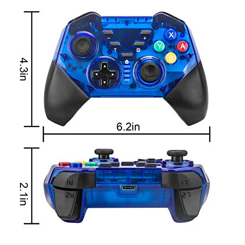 Beinhome Switch Pro Controller, Bluetooth Pro Controller Compatible with Nintendo Switch, New Blue