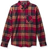 Volcom Caden Plaid - Camicia da uomo a maniche lunghe, in flanella - Rosso - L