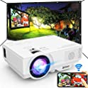"Jinhoo WiFi Mini Projector with 100"" Projector Screen"