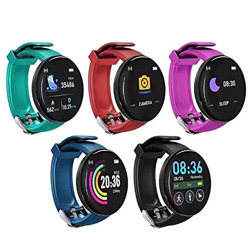 Fitness Smart Watch für Damen Herren – 2021 Erwachsene Smartwatch Fitnessuhr Touchscreen Smartwatch Schrittzähleruhr mit Herzfrequenz- und Schlafmonitor Wasserdichte Sportuhr Activity Tracker (Black)
