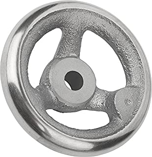 160 mm Diameter Metric 14 mm Bore Size Kipp 06271-2160X14 Grey Cast Iron//Steel Handwheel with Fixed Machine Handle