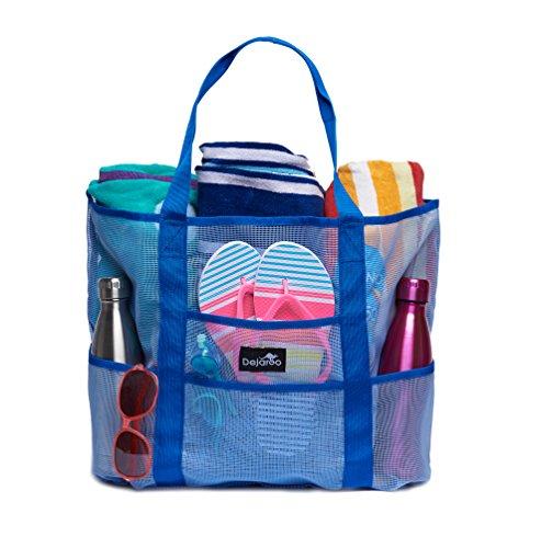 Dejaroo Mesh Beach Bag – Toy Tote Bag – Large Lightweight Market, Grocery &...