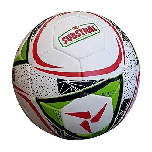 Substral Fußball, Größe 5, Umfang ca 68-69cm, leicht, mit zusätzlichem, integriertem Sicherheitsventil, unaufgepumpt ausgeliefert