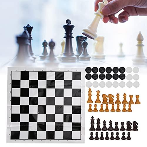 01 Juego de ajedrez Internacional, Juego de ajedrez Plegable Ligero de Mano de Obra Fina