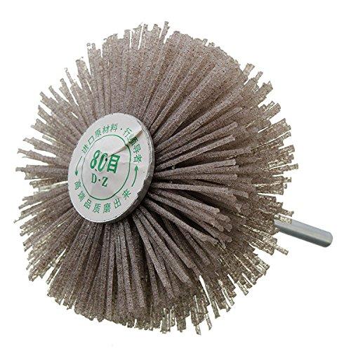 EsportsMJJ 6mm schacht 80 Grit schuurwiel borstel houtbewerking polijsten wiel slijpen