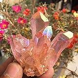 ZZLLFF Rare Beauty Rose Flame Aura Cuarzo Cultivo de Cristal Espécimen 60-70