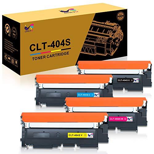 ONLYU 4-Pack kompatibler CLT-K404S CLT-C404S CLT-M404S CLT-Y404S Tonerkartusche für Samsung Xpress C480 C480W Samsung SL C480 C480W SL C480FW SL C480FN C430 C430W