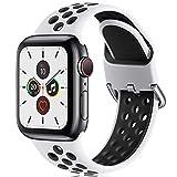 CeMiKa Ersatzarmband Kompatibel mit Apple Watch Armband 38mm 40mm 42mm 44mm, Weichem Silikon...