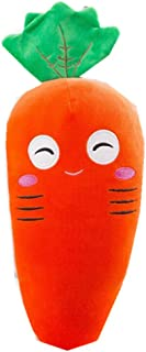 UFREE Cute Orange Carrot with Green Leaf Plush Pillow Soft Stuffed Vegetable Play Doll Baby Hugging Toy Sleeping Bolster Throw Pillow Bed Sofa Nap Cushion Nursery Office Home Decor Gift