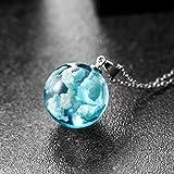 ToDIDAF collar de resina, creativo cielo azul cielo blanco nube resina transparente collar hecho a mano para mujer, joyería de regalo, para boda, fiesta
